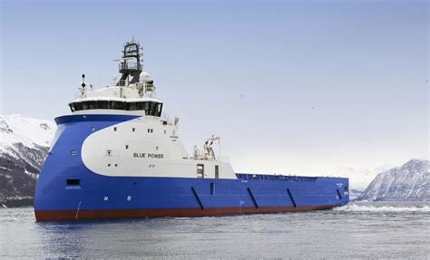 platform supply vessel quot blue power quot platform supply vessel delivered by ulstein