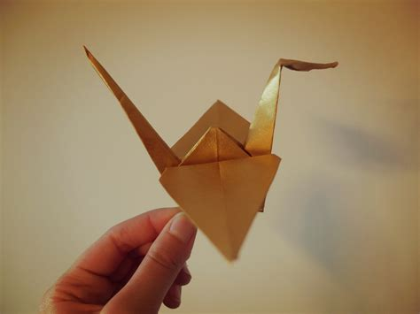 Origami Craine - origami crane for teamlulu whynotmonday