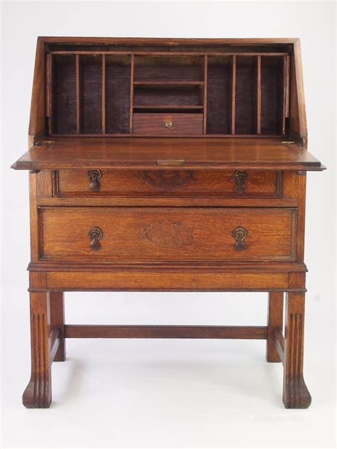 Bureau Vintage vintage oak bureau bureau writing desk antiques atlas