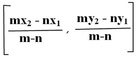 section formula for external division section formula