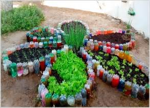 Garden With Recycled Materials Make An Outdoor Feature From Recycled Materials