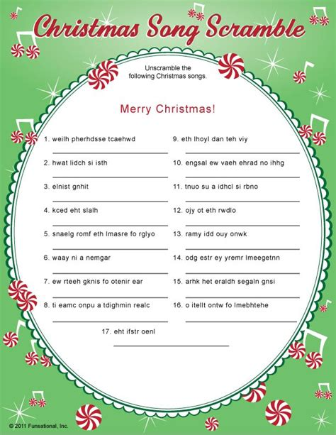 printable christmas scramble games read more on christmas song scramble christmas party game