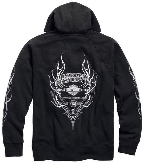 Sweaterhoodiezipper Harley Davidson 99027 16vm harley davidson hoodie pinstripe flames