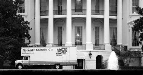 white house movers moving vans arrive at white house to remove all traces of