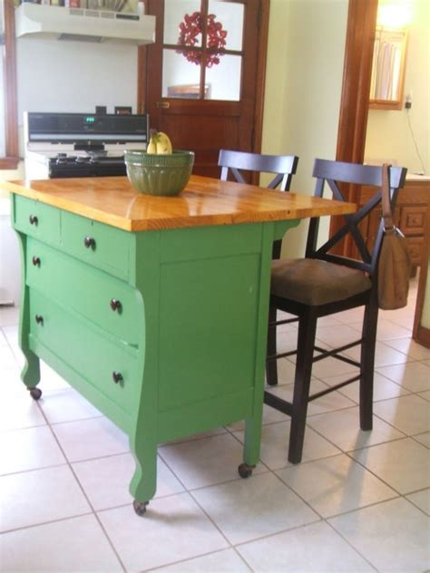 How To Kitchen Island by Diy Kitchen Islands Ideas Using Common Household Furniture