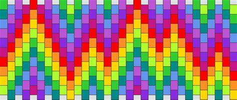 zigzag kandi cuff pattern rainbow zigzag cuff pony bead patterns misc kandi