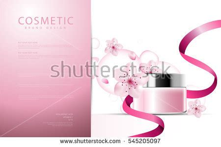 poster package layout colorful nail lacquer ads nail polish stock vector