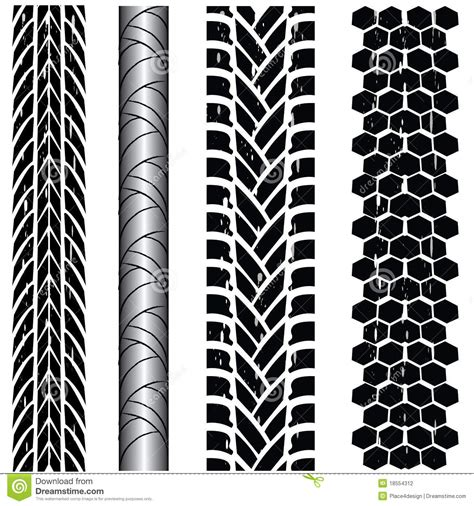 tire track collection stock vector illustration  illustration
