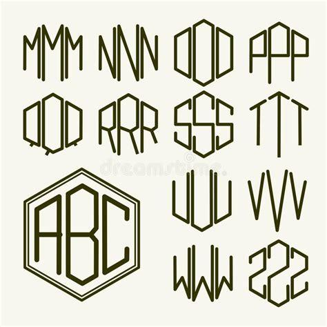 Creare Clipart Metta 2 Lettere Modello Per Creare Un Monogramma