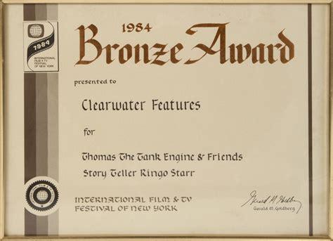 bronze certificate template ringo award certificate a framed 1984 quot bronze award