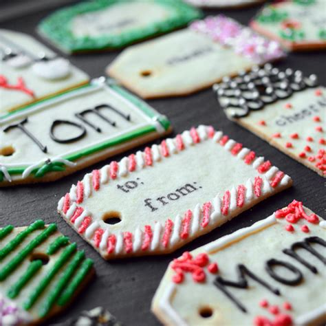 christmas cookie gift tags food wine