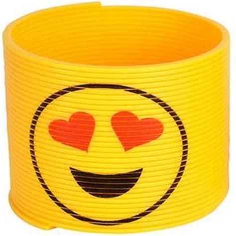 emoji slinky toy love heart eyes smiley kids novelty