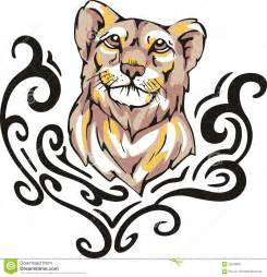 lioness tattoo stock image image 26259801