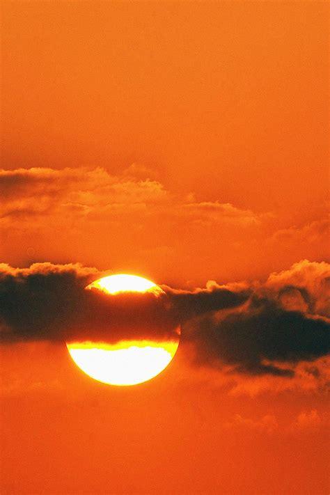 freeios sunset  clouds parallax hd iphone ipad wallpaper