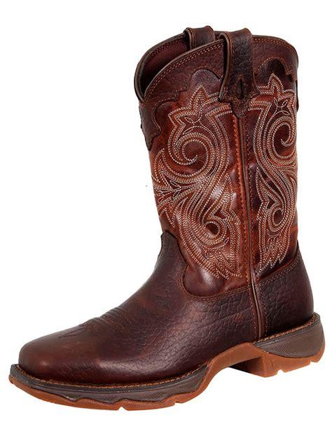 flirt with durango womens steel toe western boot rd3315