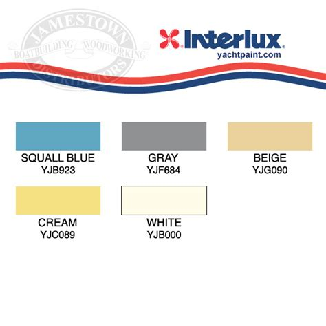 interlux marine paint color chart