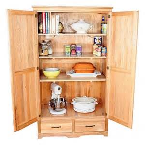 Kitchen Armoire Cabinets by Oak Kitchen Pantry Storage Cabinet Home Furniture Design