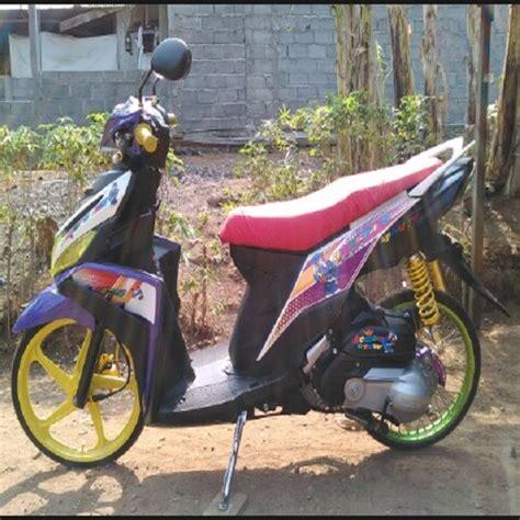 Modifikasi Mio Sporty Kuning by Modifikasi Mio Hitam Kuning Modifikasi Motor Kawasaki