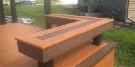trex bench plans 51 best images about cedar deck designs on pinterest