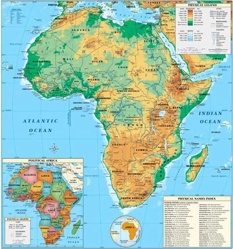 physical map of central africa africa africa physical map
