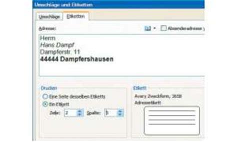 Etiketten Drucken Mit Office 2010 by Office Tipps Etiketten Mit Word 2010 Erstellen Pc Magazin