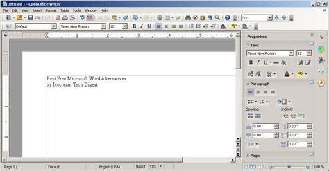 Open Office Writer by Best Free Microsoft Word Alternatives Icecream Tech Digest
