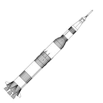 Saturn V Coloring Page by Saturn V Rocket Search Mission Patches