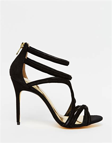 strappy black sandals high heels ted baker ninof strappy high heel sandals in black lyst