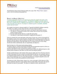 8 project scope statement examples case statement 2017