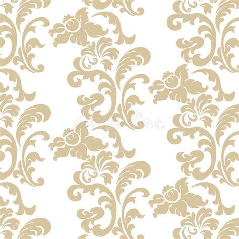 vintage elegant pattern vintage elegant lily flower ornament pattern stock vector