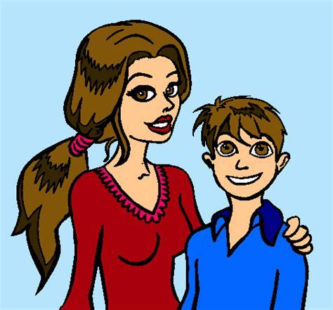 imagenes de mama con sus hijos en caricatura madre con su hijo caricatura imagui
