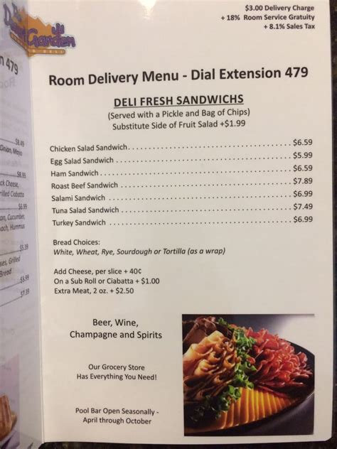 Room Menu by Room Service Menu Yelp