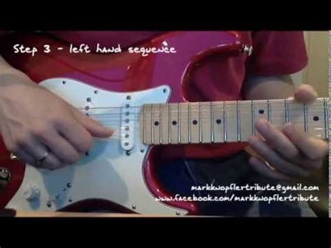 sultans of swing solo lesson tutorial learn to play the quot sultans of swing quot end solo