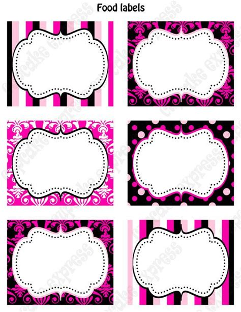 red white and black polkadots cookie product label templates by canva