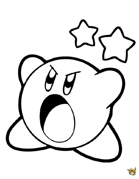 kirby super star coloring page kirby en col 232 re est un coloriage de kirby