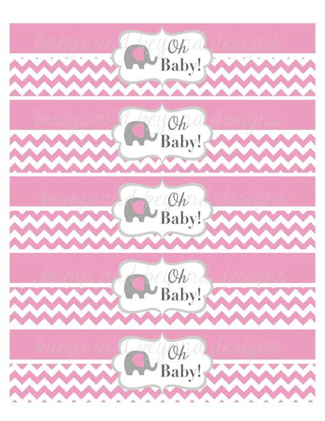 Free Printable Water Bottle Labels For Baby Shower by Baby Shower Water Bottle Labels Gum Bumpandbeyonddesigns