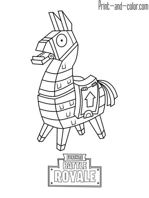 fortnite battle royale coloring page llama omalovanky