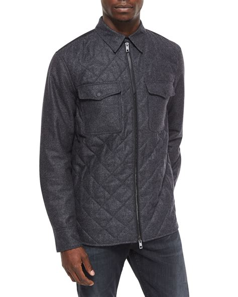 Quilted Shirts For by Rag Bone Sleeve Quilted Shirt Jacket In Gray For