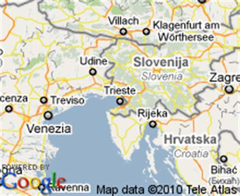 map of trieste italy trieste italy map my