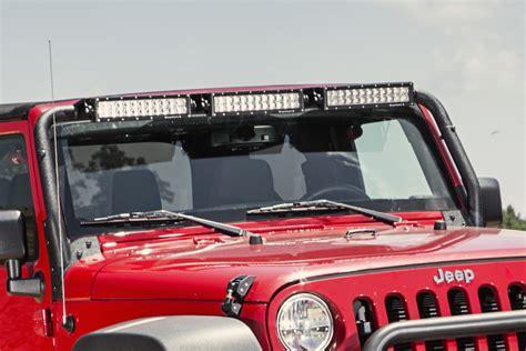 Jeep Wrangler Light Bar Kits Windshield Led Light Bar Kit 07 17 Jeep Wrangler Jk