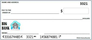 Blank Check Template For Students by Math Coach S Corner