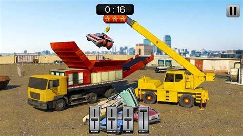 Destroy A Car Dump Truck by Car Crusher Crane Operator Dump Truck Driver By