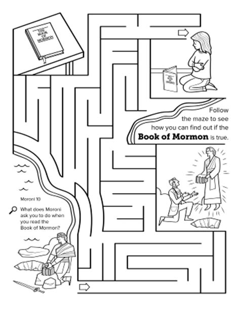 printable lds mazes the golden plates from moroni to joseph