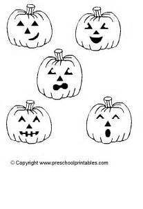 free coloring pages of five little pumpkins
