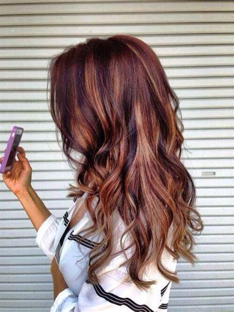diy auburn highlights for brown hair light brown hair with highlights nails pinterest