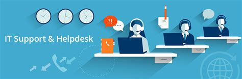 communication of help desk support services to it clients