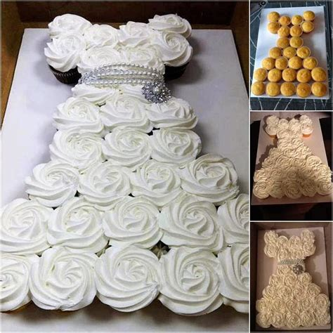 bridal shower cake and cupcake ideas bridal shower pull apart cupcake cake tutorial creative
