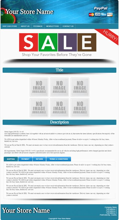 Ebaytemplateshop Com Ebay Auction Listing Template Ebay Template Name