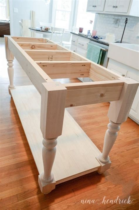 how to build a diy furniture style kitchen island free plans