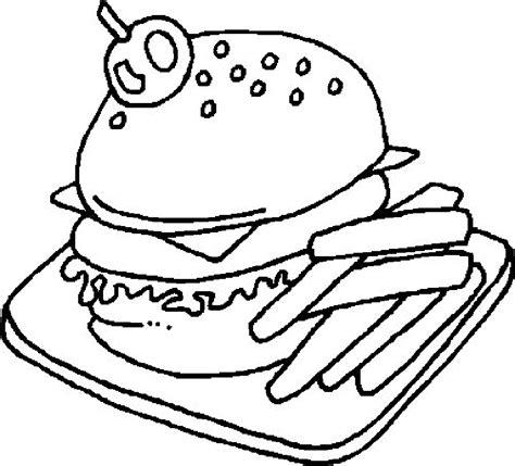 Junk Food Coloring Pages Coloring Home Snack Coloring Pages